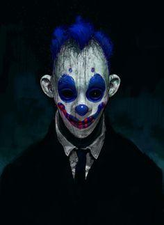 Never-seen Dark Knight concept art reveals the terrifying origins of the Joker's Clown Gang, by Concept Artist Rob Bliss