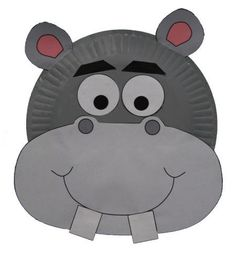 Hippo Mask paper plate Craft
