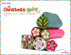 Christmas Millefiori Canes Set by Ronit Golan | Flickr - Photo Sharing!