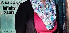 DIY Infinity Scarf/Nursing scarf! Such a good idea... love dual purpose clothing items :)
