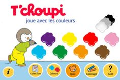 T'choupi joue avec les couleurs (Nathan): learn colors by doing activities with the beloved penguin; recommended by Audrey