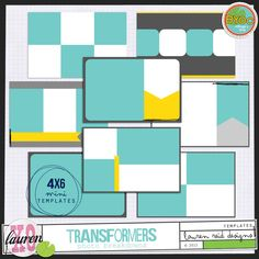 Love these 4x6 templates!  Bought for Project Life, via The Lilypad