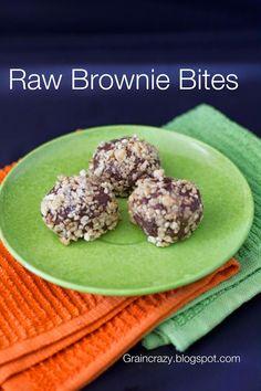 Grain Crazy: Raw Brownie Bites