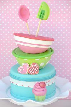 Cupcake Baking birtthday party cake