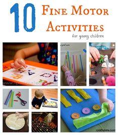 Ten fine motor activities for young children