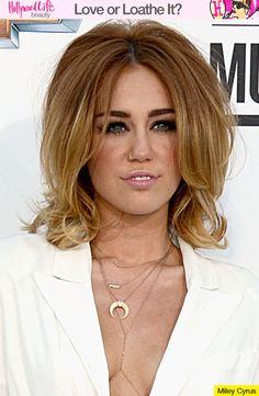 Miley Cyrus' Retro Hair