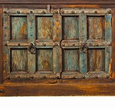 Antique door headboards on pinterest door headboards - Cabinet made from old doors ...