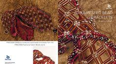 tutorials, bead bracelet, autumn seed, beaded bracelets, bracelet patterns, seeds, seed beads, october, bead tutori