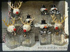 reindeer bottle ornaments