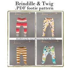 seeking baby/toddler tights, footed pants pattern