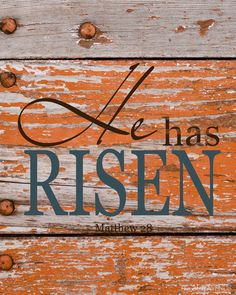 He has Risen Free Printables... two more colors.  #Easter