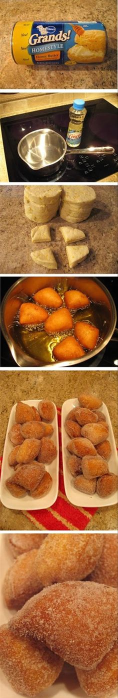 How to make easy donuts! Yum - I've got to try this!