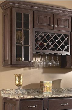 Beverage Center with Wine Rack