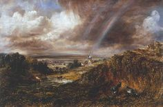 John Constable, Hampstead Heath with a Rainbow 1836
