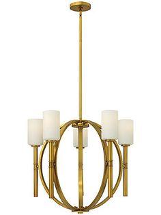 brass orb pendant