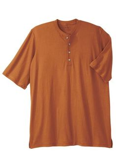Amazon.com: Boulder Creek Big & Tall Cotton Jersey Henley Shirt: Clothing