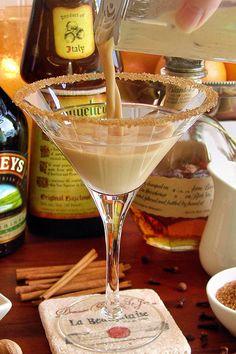 Pumpkin Pie Martini with Bourbon