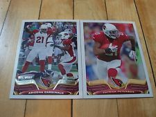 2013 Topps ARIZONA CARDINALS (2) Card Lot PATRICK PETERSON Team Leaders Mint