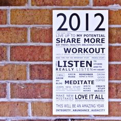 DIY: new years manifesto