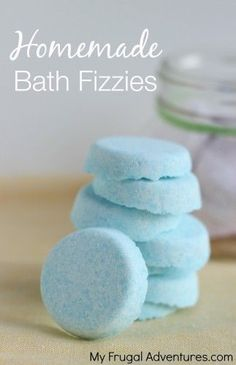 Homemade bath bombs or bath fizzies! So easy and so inexpensive- a perfect homemade gift idea.
