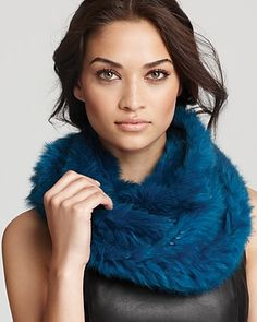 525 America Knit Fur Infinity Scarf.  This is so soft and cozy...