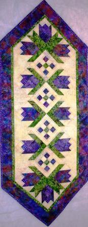Flower Power Tablerunner Quilt Pattern from Vermont Quilt Design | kgkrafts - Patterns on ArtFire
