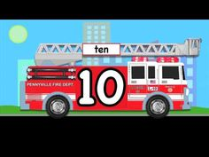 Number Counting Fire Truck #2 - This version teaches children how to count to 10 both forwards and backwards in English.  Featuring an animated fire truck with siren sound effects and emergency lights. Kids videos video for children in 1080 HD.    Please take a moment to LIKE, SHARE, and SUBSCRIBE.    Subscribe to our YouTube Channel:  http://www.yo...