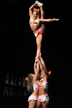 Cheer, bow and arrow, stunt, Clemson University Homecoming 2011: Tigerama - Through the Eyes of a Tiger from Kythoni's Cheerleading: Collegiate board http://pinterest.com/kythoni/cheerleading-collegiate/ m.14.68 #KyFun