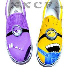 #minion vans shoes #Despicable Me Unicorn Custom Painted Shoes van,Slip-on Painted Canvas Shoes