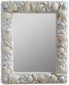 seashell frames decor, shells, sea shell, mirror crafts, wall mirrors, shell mirror, beach, mosaic, craft ideas