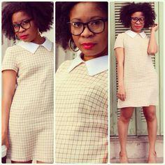 A few more pics of my plaid mini dress... #fashion #sewing #diy #imadethis :)