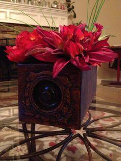 Repurposed antique sewing drawer