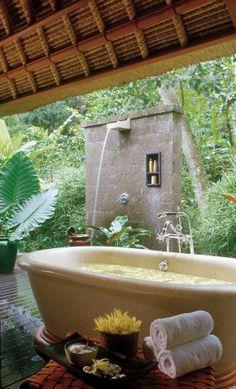 Your private jungle bath awaits.