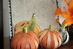Someday Crafts: Scrapbook Paper Pumpkins. I think this is one thing I may scrapbook...