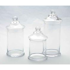Glass Jars With Lids | 3ct