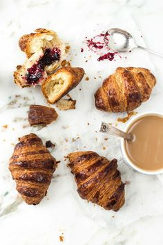 How to make chocolate, plain & almond croissants {step by step}