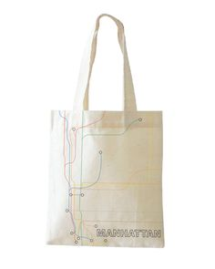 Manhattan Map Bag by Jacqueline VanDusen #map #bag #tote #design #manhattan #nyc #cartography #subway