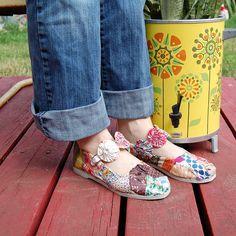 Fabric Scrap Shoes tutorial