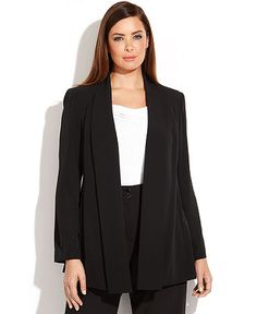 a soft draped jacket (no closure) available in black or white (and grey)
