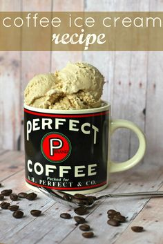 Coffee Iice Cream Recipe...