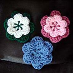 beginner crochet flowers pattern free