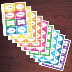 Rainbow Colors EDITABLE Printable Labels