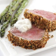 I just watched them make this on America's test kitchen & my mouth was watering!  Yum!!!  Horseradish-Crusted Beef Tenderloin Recipe - America's Test Kitchen