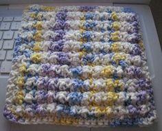 nubby dishcloth ~ free crochet pattern