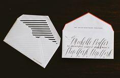Striped envelopes.
