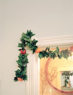 Bay Leaf and Pomegranate garland.