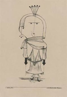 The Witch with the Comb: by Paul Klee