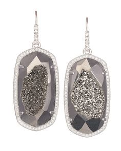 Ellen Drop Earrings in Platinum Drusy - Kendra Scott Jewelry.