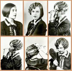 How to marcel your hair, 1920s but remember, this includes serious burns ! Ouch! vintage woman, shorter hair, 1920s style, 1920s hairstyl, vintage bob hairstyle, marcel wave, hair inspir, beauti, finger waves