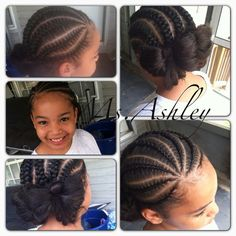 LITTLE GIRL HAIRSTYLES / BRAIDS / PROTECTIVE HAIRSTYLE / HAIRSTYLES / KIDS / BOW  / CORNROLLS / HAIRDO / UPDO / GIRL